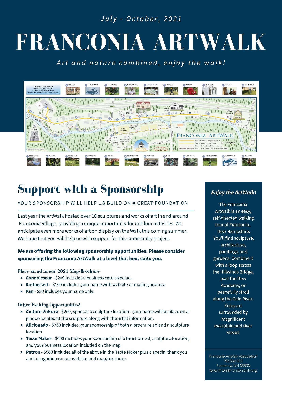 Artwalk Sponsorships Available
